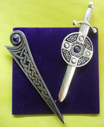 Kilt Pins, Kells & Sword, Pewter