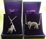 Waggy Dog Pendant. Sleeping Cat Pendant
