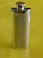 Knot Panel Slim Flask 2oz $69.73 (front)